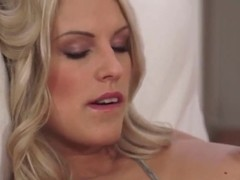 Golden haired Blanche Bradburry shows her nookie