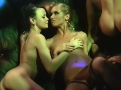 Melanie B & July & Bianca & Savannah & Stacy Cute in orgy movie with some very beautiful college c.