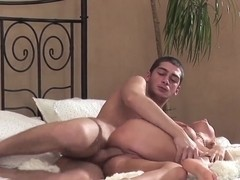 Young busty Amelie gets fucked in the ass