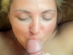 My hot wife takes my cum on her face