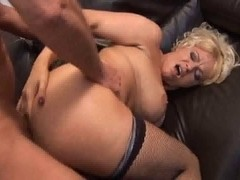 British doxy Starr receives screwed up the ass in fishnets