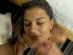 Fresh clean blond girl toweling and dressing