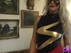 COSPLAY BABES Smoking hot Ms Marvel Striptease