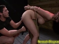 Gagged and bound ### fucked