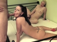 Fucking one of two lesbians playing