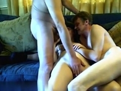 Threesome sex moments captured in video