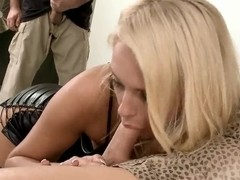 Amazing blonde Ivana Sugar has enough passion for two strong and hot dicks