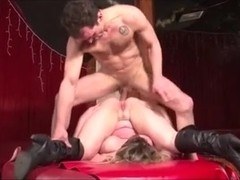 French 7 - Hot Curvy Bitch Blonde Swallow Whole Cum