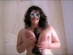 Hot BBW with dildo