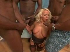 White Blonde BiBi Fox Black Cock Double Penetraion And Anal