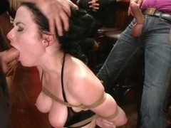 Slutty Veruca Publicly Shamed And Fucked Hard In Crowded Bar - PublicDisgrace