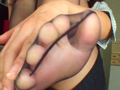 Darksome Hose foot tease three