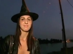 girl Fucked on Way to Halloween Party