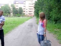 Madelyn in one of the hottest girls gets fucked in the park