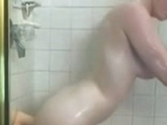 Redhead domina in shower