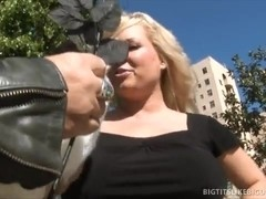A Girl With Giant Tits Gets Plowed