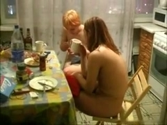 Red haired gals being naked in big tit amateurs clip