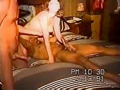 Wife Shared With Darksome Guy In Hawt Interracial Trio