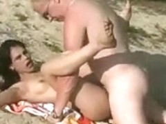 Hawt Fuck and Cum on Beach BVR