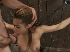 Angel Cummings Every 19yr old needs a good bound throat fucking!