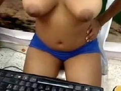 Stunning webcam solo with me kneading my big natural boobs