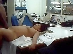 Desi Office Lad Angel Table Fuck