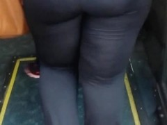 candid bus stop booty