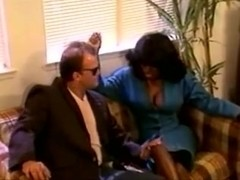 Ebony Ayes fucks a lucky white guy