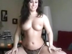 gorgeous boobies on curvy dancing dark brown