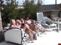 I am fucking in outdoors in my homemade group sex clip