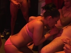 german chicks in bukkake gangbang