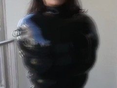 Inflatable latex sack