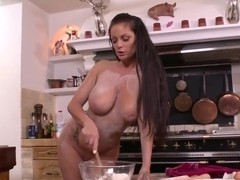 Curvy Sheila Grant gets nasty in kitchen