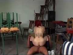 german tatooed girl riding boyfriend