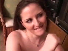 Red-haired MILF stokes my dick until I cum all over her face