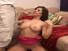 Busty amateur bitch pleasures tall muscled stud