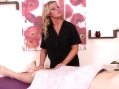CBT loving masseuse posing in sexy lingerie