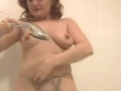 Unshaved Mother I'd Like To Fuck takes a shower