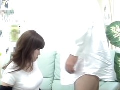 Dripping tunnel of love screwed hard by big japanese manhood