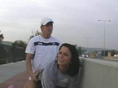Pair Fuck On A Walway Over The Highway