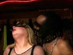 Cumshot video featuring a hot shemale with a black man