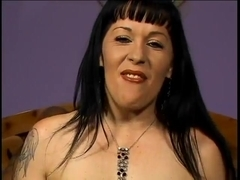 Couger with pale skin in gang bang