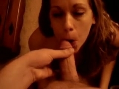 Naughty babe loves to swallow