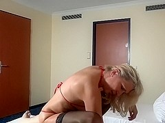 Blond German Mother I'd Like To Fuck screwed by youthful fellow and injected into the M...