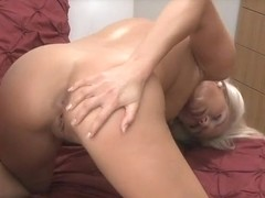 Mature couple make love