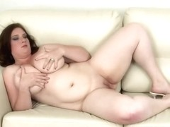 Brunette Hair with Biggest Mambos Dildoing