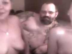 Fat guy has a threesome with 2 milf sluts