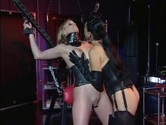Angel with a good rack being gratified by her dominant-bitch