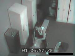 immature Pair Caught By Security Camera Fucking In Locker Room