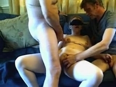 Sultry Golden-Haired Practices Her Irrumation Skills